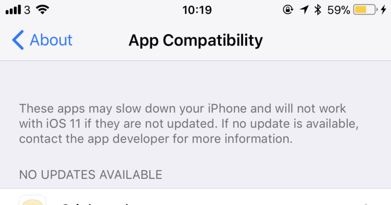ios 11, ios, iphone, compatibility, apps, update
