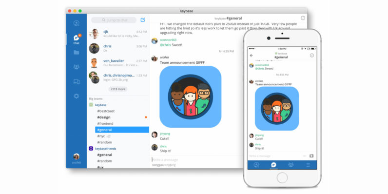 Keybase launches Teams, a free encrypted alternative to Slack