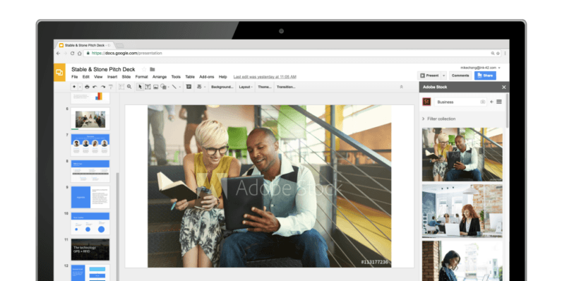 Google Slides now has add-ons, and lets you import ideas from Keep