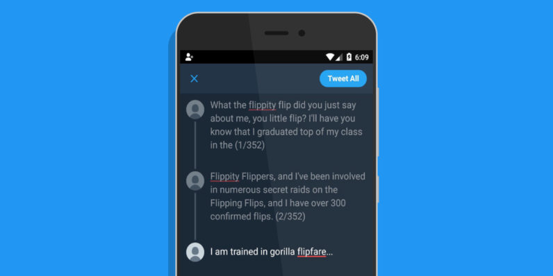 Twitter is testing a tweetstorm feature on Android