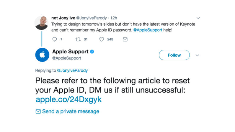 apple, support, jony ive, twitter