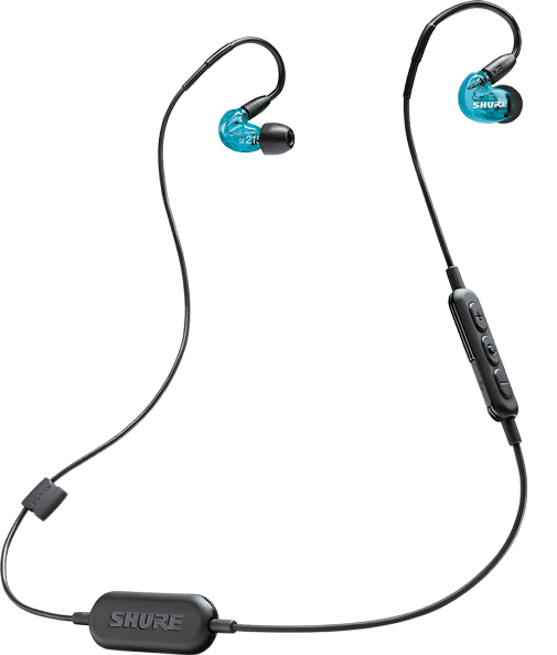 Shure's SE215 comes in a range of colors and features a detachable Bluetooth cable