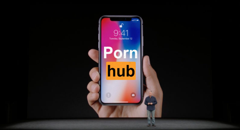 apple, iphone, x, pornhub