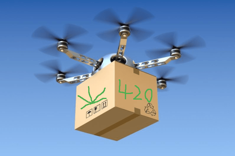 Dude, California is totally uncool with pot-delivering drones