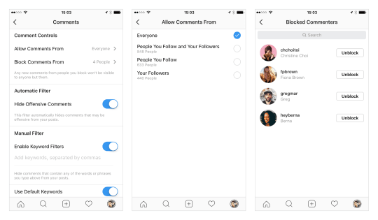 Instagram now gives you more control over who can comment on your posts