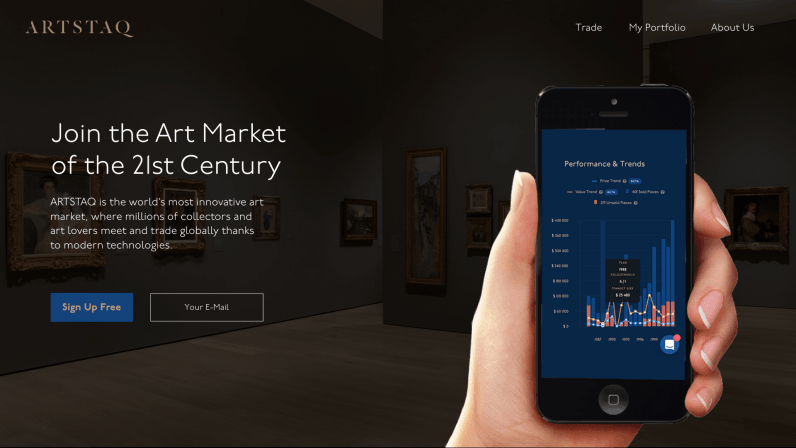 This startup wants to be the NASDAQ of the art world