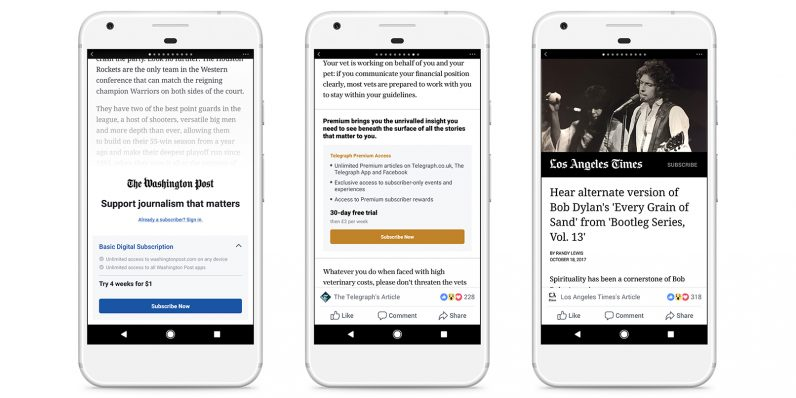 Facebook is bringing paywalls to Instant Articles in your mobile feed