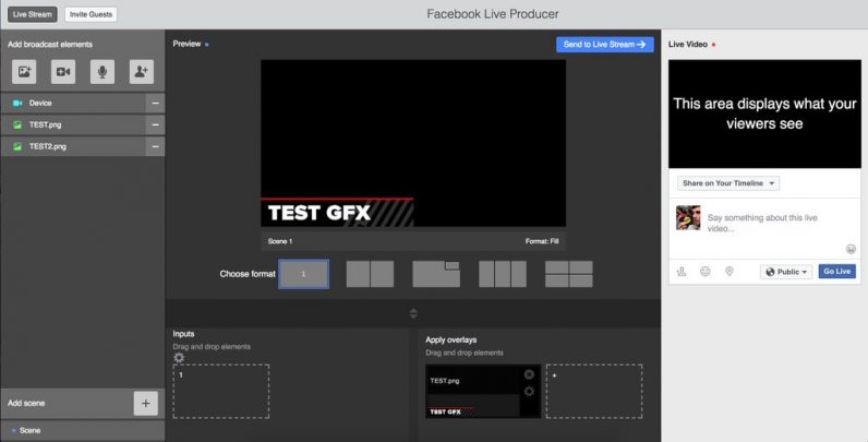 Facebook tests Live Video Producer Tool with multi-camera support and GFX features