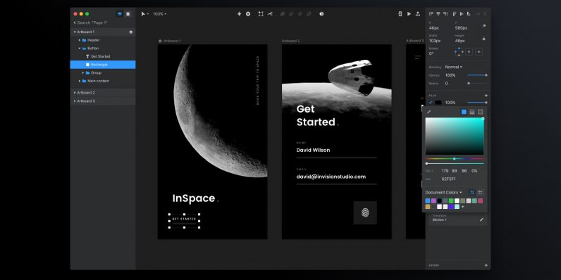 InVision takes on Sketch and Adobe XD with its new Studio screen design app