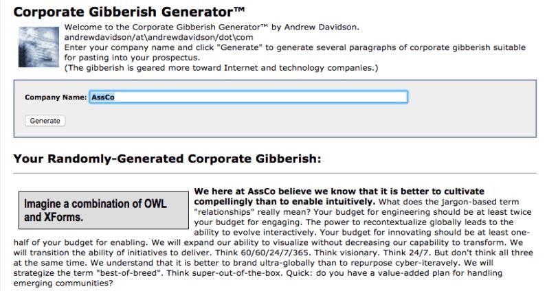 gibberish word generator