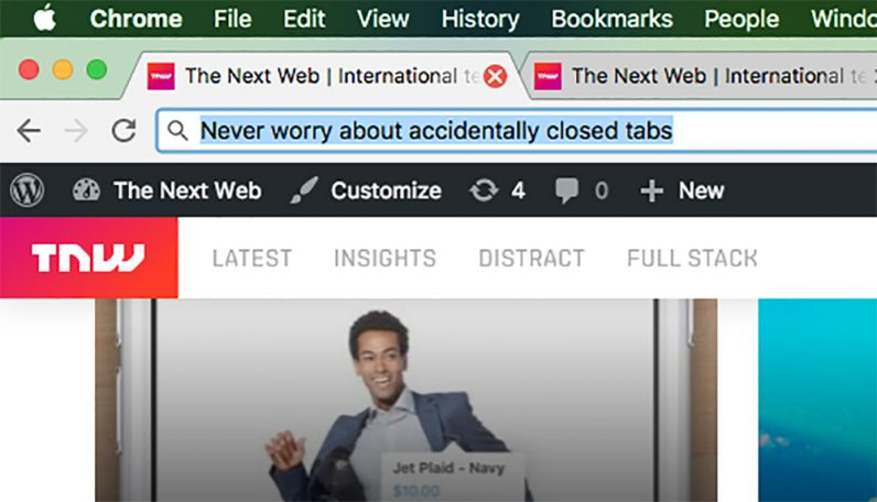 chrome, tip, tabs, closed