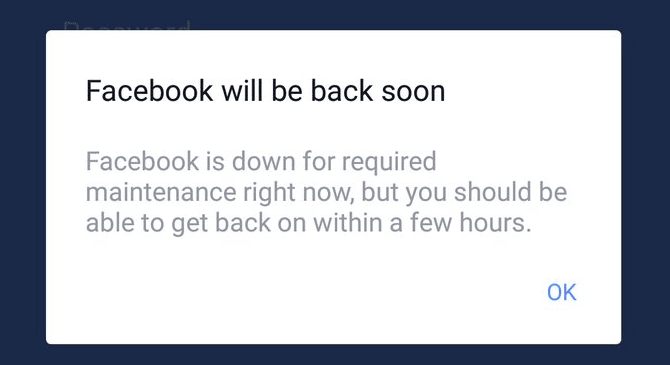 instagram, facebook, down