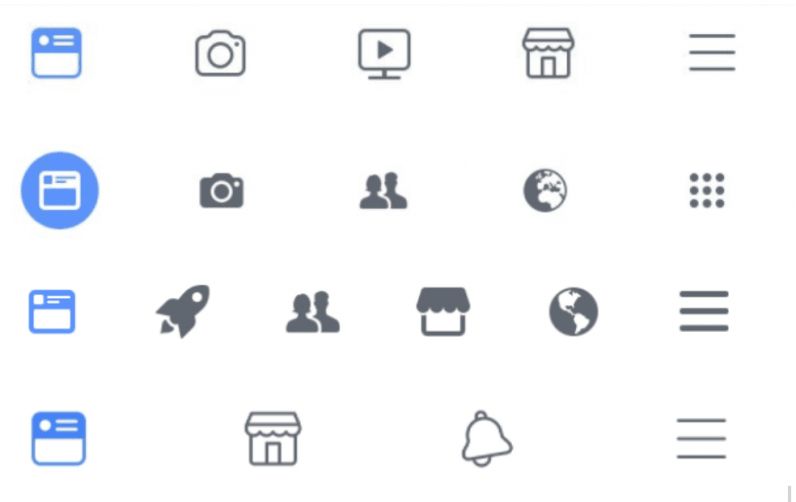 A designer has collected at least 66 (!!!) active versions of Facebook app's navbar
