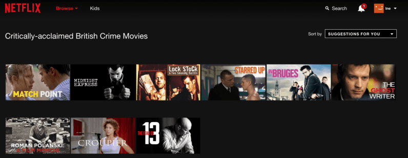 Netflix has thousands of hidden categories. Someone listed them all