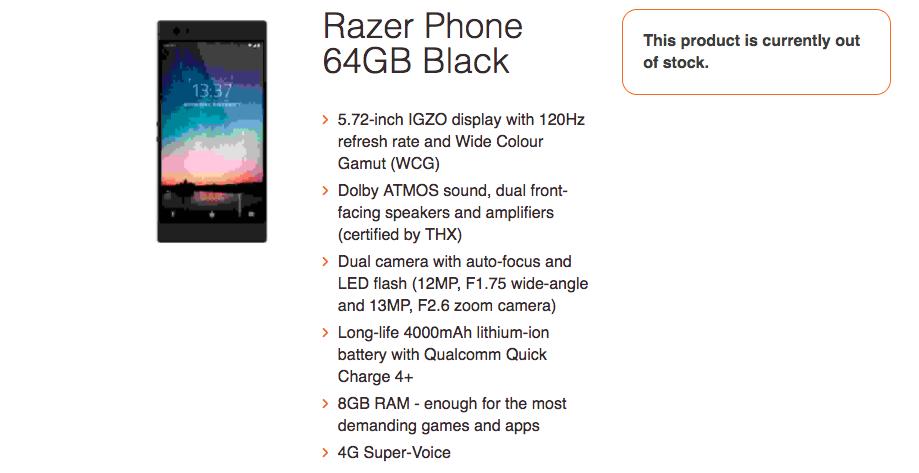 Leak hints Razer's first phone will pack killer specs in phablet-sized body