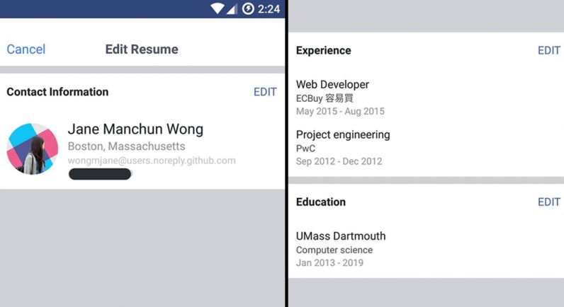 Facebook Tests LinkedIn Like Resumes So You Can Flaunt Work Experience  Linkedin Resume