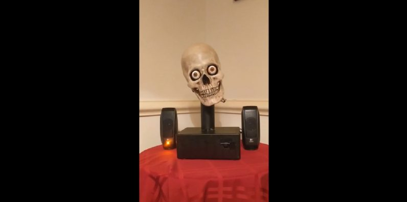 Hacker pieces together Alexa-powered talking skull