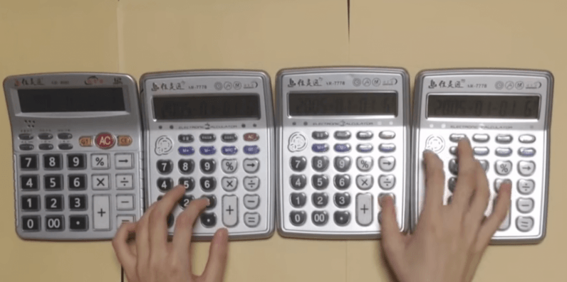 YouTube maestro kills Super Mario Bros. theme song on 4 calculators