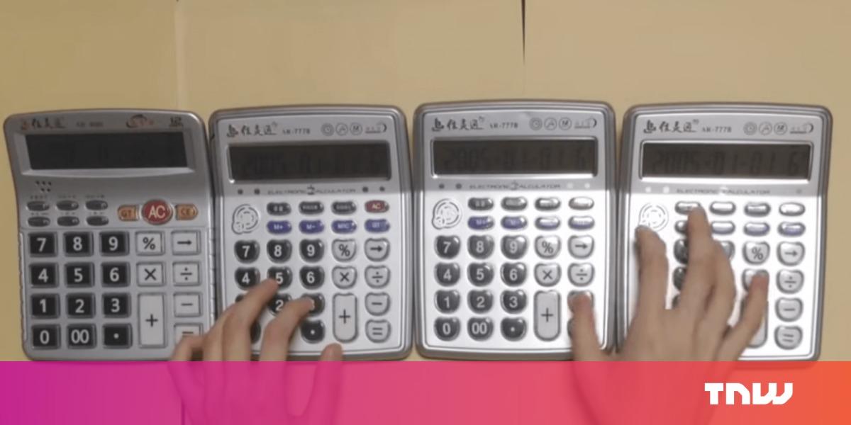 photo image YouTube maestro kills Super Mario Bros. theme song on 4 calculators