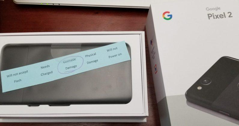 google, pixel 2, quality control