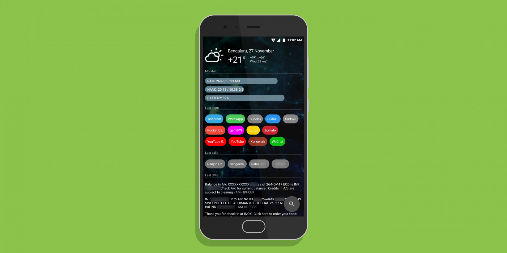 This launcher will delight Android fans who favor function over form