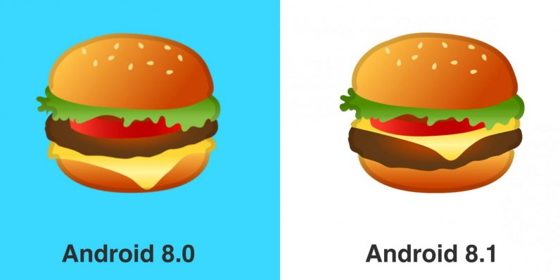 DP2 corrects hamburger emoji, puts cheese above the patty