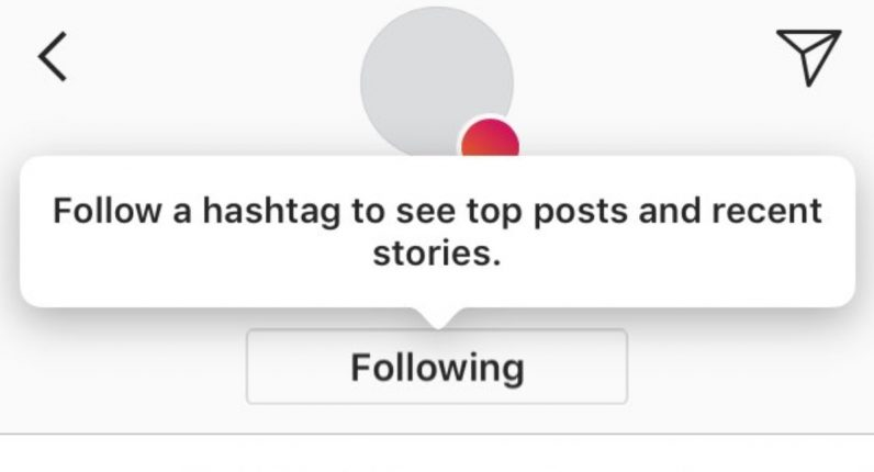 Instagram experiments with letting you follow hashtags