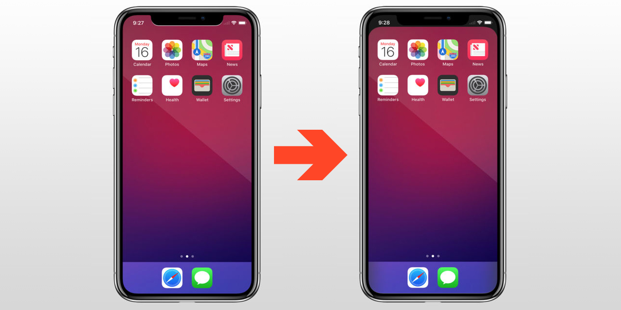 This wallpaper app makes your iPhone X's notch disappear