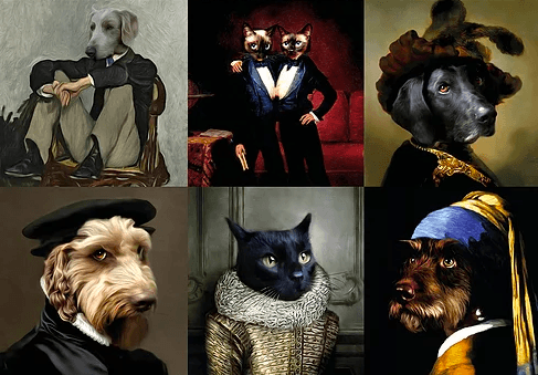 Brighten up your life with a luxurious portrait of your pet