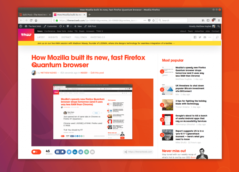 Firefox Quantum is available now – here's why it's so damn