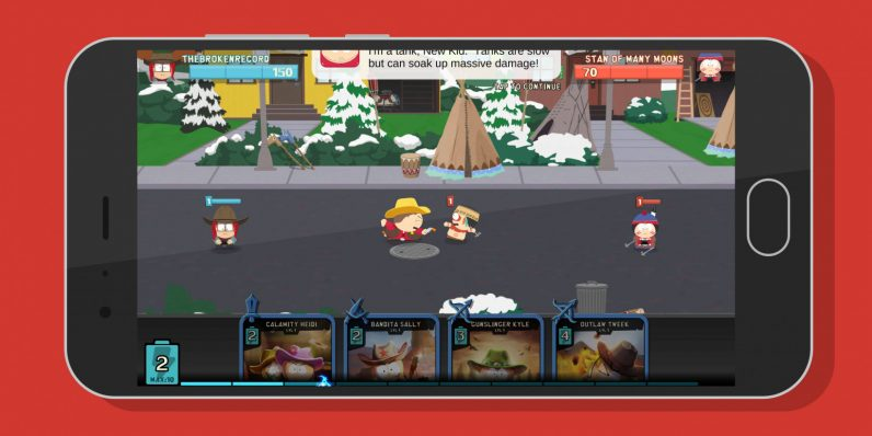 South Park's new mobile game pits cowboys against Native Americans in a battle of cards