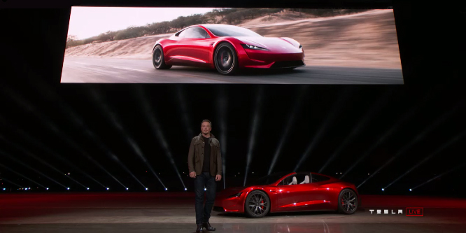 Tesla, roadster, announcement