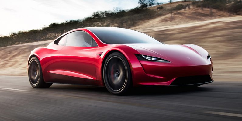 tesla 39 s surprise 400km h roadster is coming in 2020. Black Bedroom Furniture Sets. Home Design Ideas