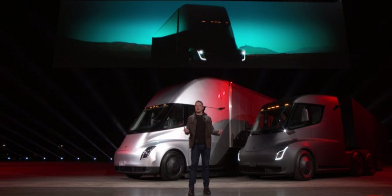 Walmart plans to pilot test the new Tesla Semi