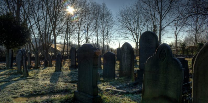 This Halloween prankster erected a graveyard for defunct startups