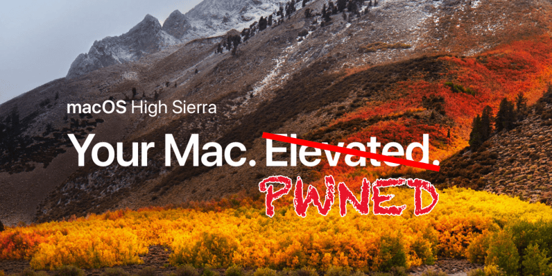 MacOS High Sierra has an embarrassing bug that gives anyone Admin access
