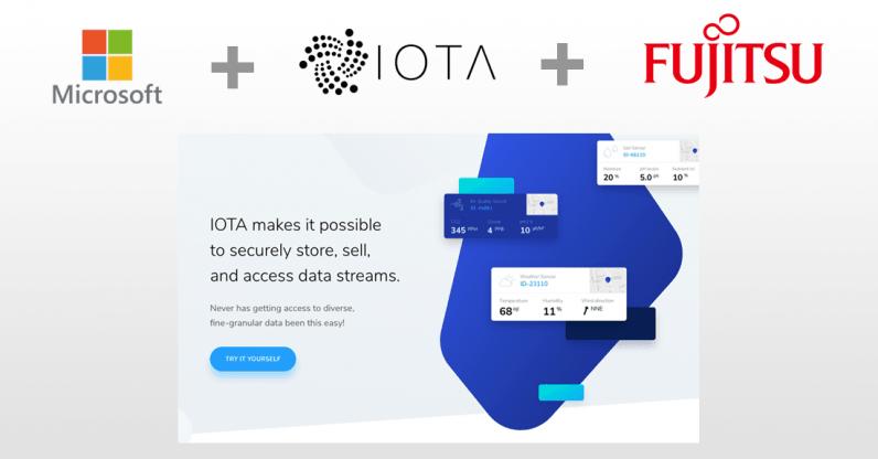 microsoft, iota, cryptocurrency, marketplace, data, fujitsu,