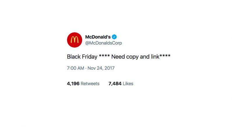 mcdonalds, mcdonald's, twitter, black friday