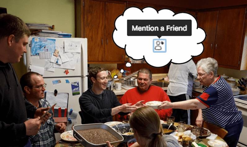 Facebook may be working on a new shortcut to tag friends in comments