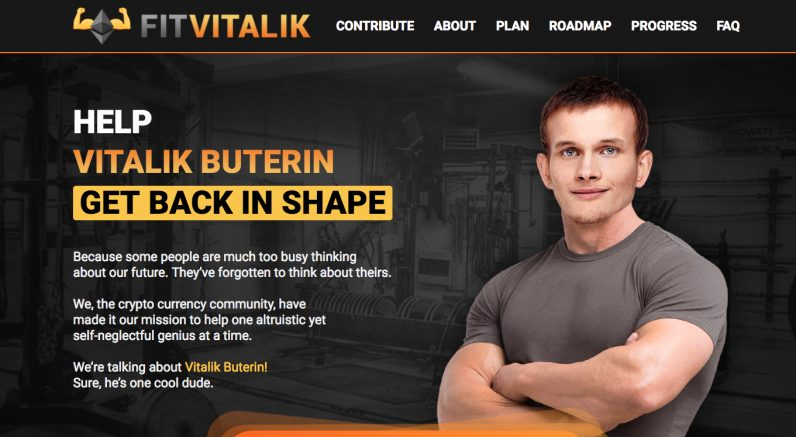 spoof ICO banner for fit vitalik
