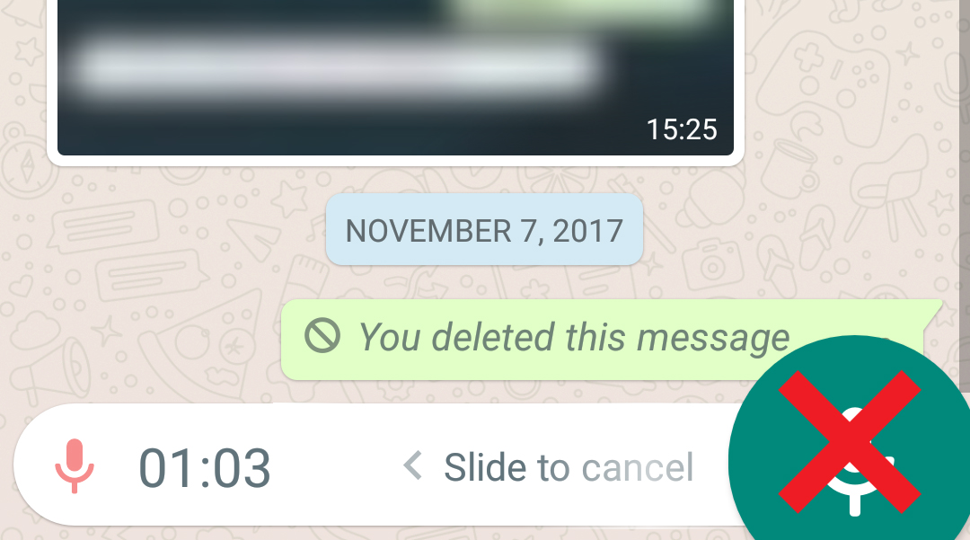 WhatsApp testing a way to send voice messages without that dumb button