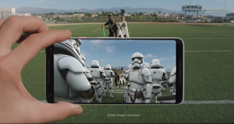 Android update brings 'Last Jedi' AR stickers to Pixel 2 phone