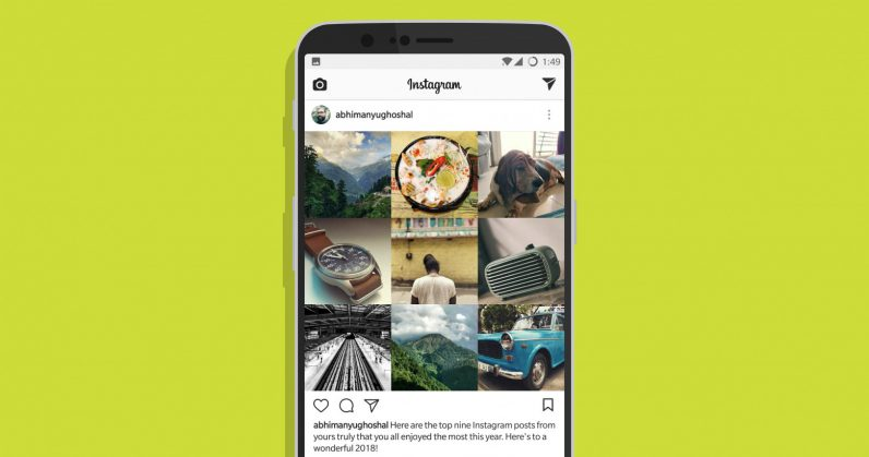 Here's how to find and share your 9 best Instagram pics of 2017