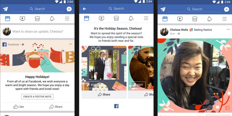 Facebook gets new festive features for the holidays