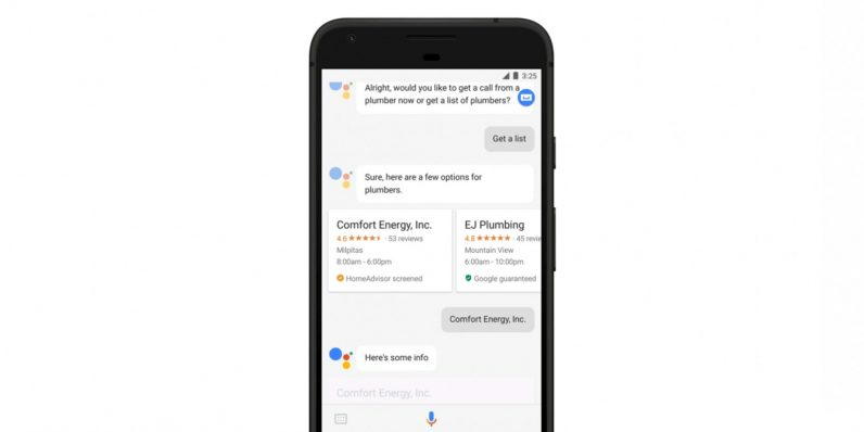 Google Assistant can now locate a handyman near you