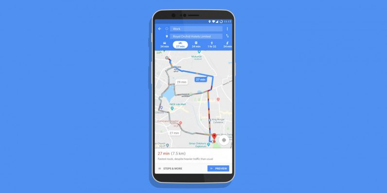 Google Maps Launched Two-wheeler mode in India