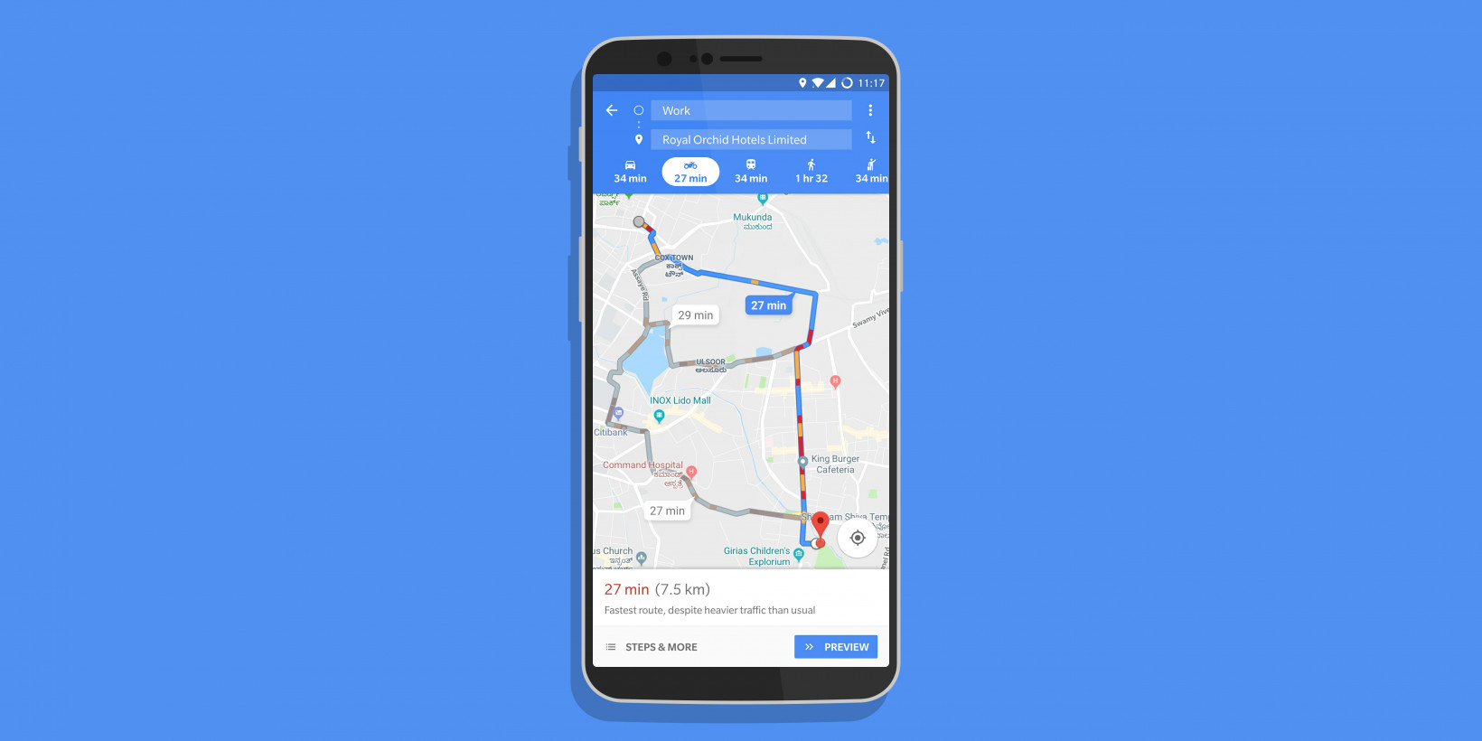 Google Maps' new two-wheeler mode shows fast routes for beating traffic