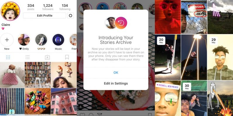 Your favorite Instagram stories can now live on in your profile