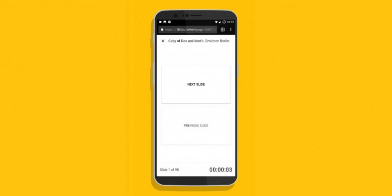 Turn your phone into a Google Slides remote control with this Chrome extension