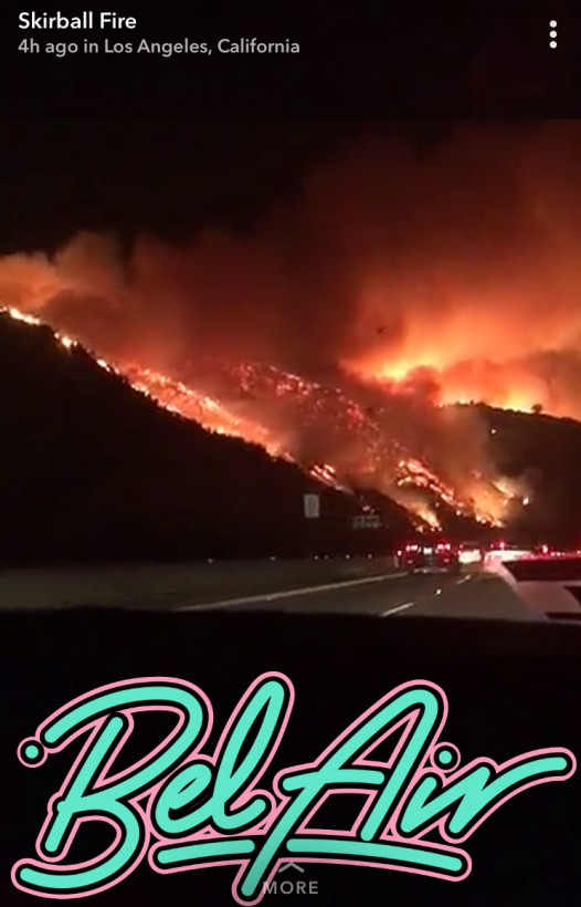 The Best And Most Terrifying Images Of The La Fires Are On Snapchat